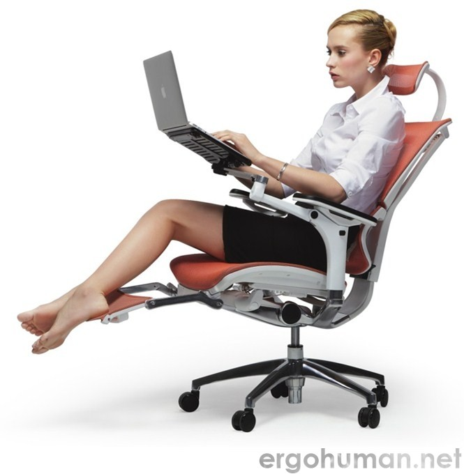 Mirus Office Chair with Leg Rest