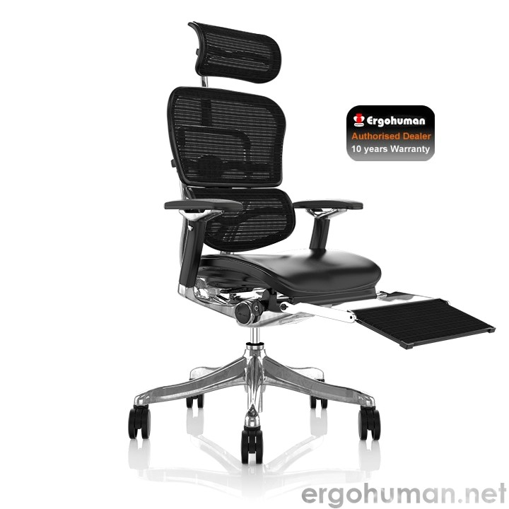 Ergohuman Plus Luxury Office Chair with Leg Rest